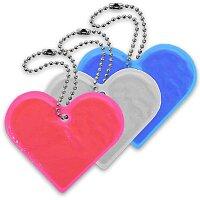 Reflexní přívěsek srdce