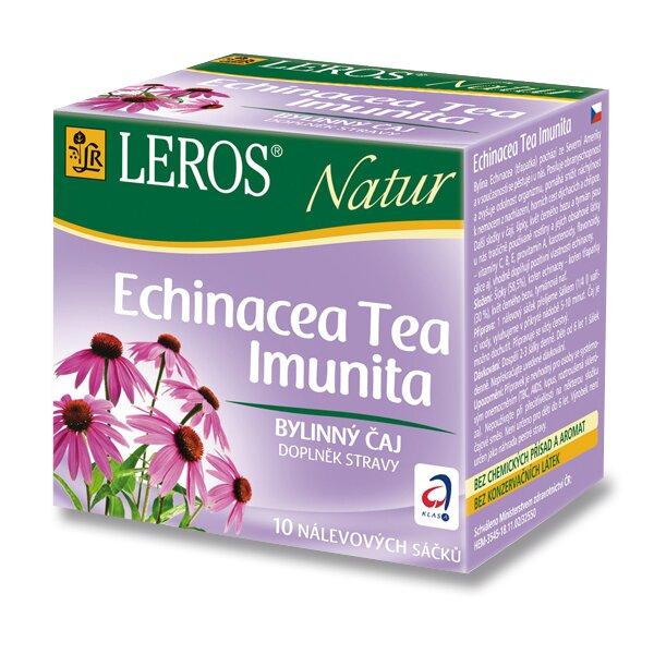 Bylinný čaj LEROS Natur Echinacea Tea Imunita 10 sáčků