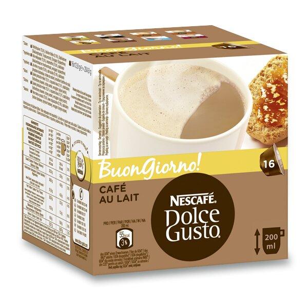 Kávové kapsle Nescafé Dolce Gusto Café au lait 16 kapslí