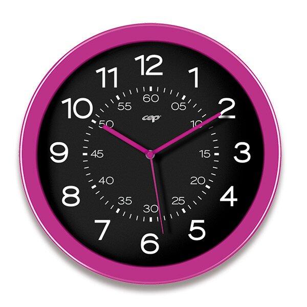 Nástěnné hodiny Cep Pro Gloss růžové