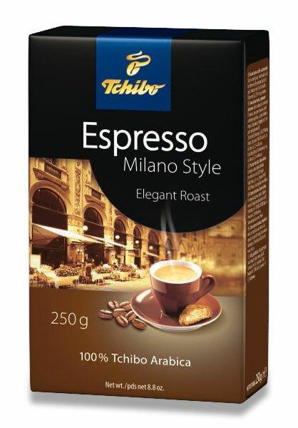Vakuovaná mletá káva Tchibo Espresso Milano Style 250 g