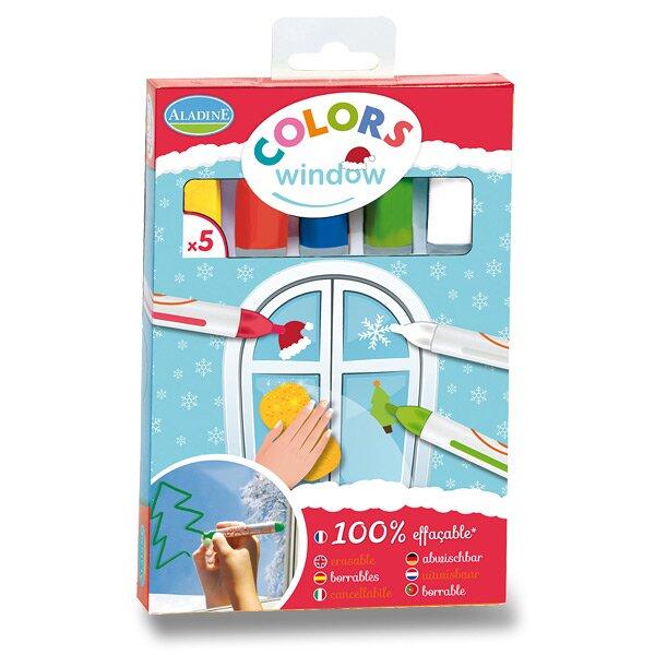 Křídové fixy AladinE na sklo - Vánoce 5 barev, adventní barvy