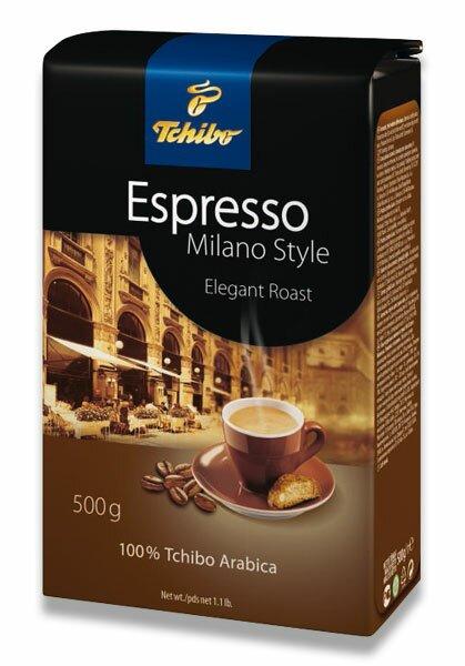 Vakuovaná zrnková káva Tchibo Espresso Milano Style 500 g