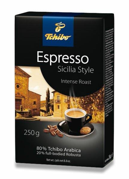 Vakuovaná mletá káva Tchibo Espresso Sicilia Style 250 g