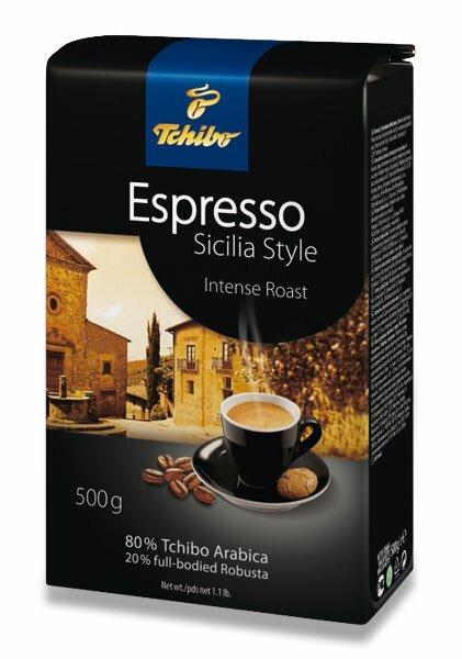 Vakuovaná zrnková káva Tchibo Espresso Sicilia Style 500 g
