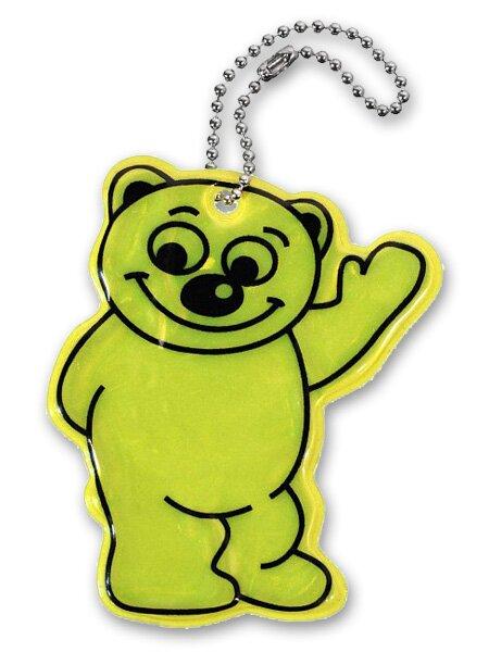 Reflexní přívěšek medvěd žlutý
