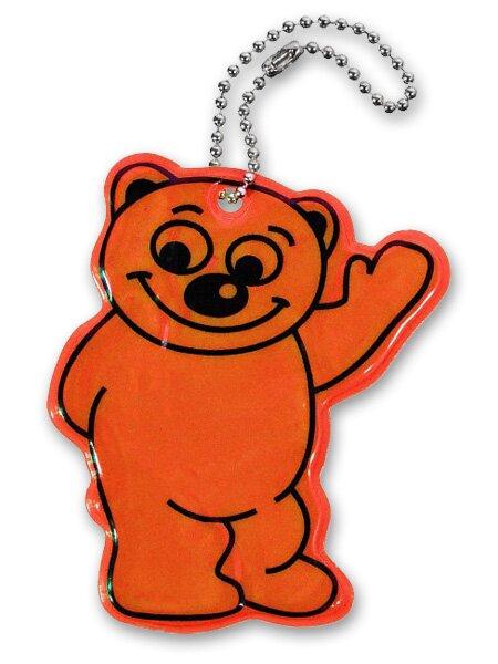 Reflexní přívěšek medvěd oranžový