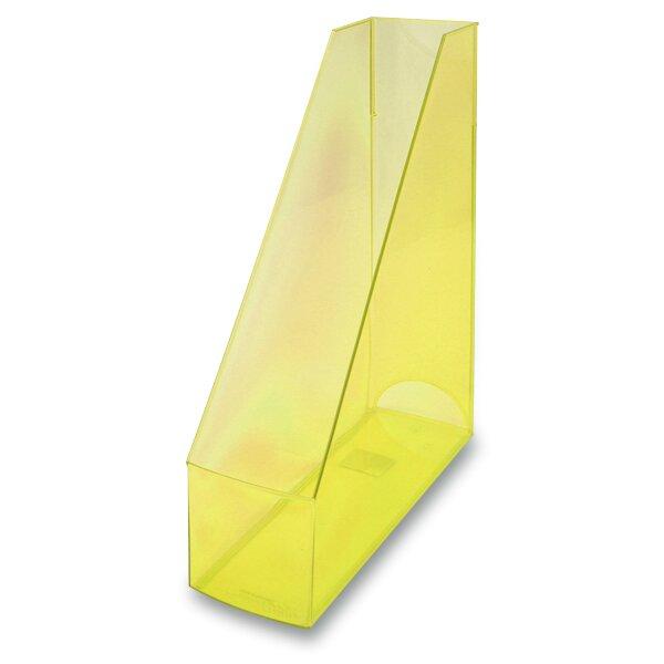 Stojan na katalogy Economy Transparent žlutý