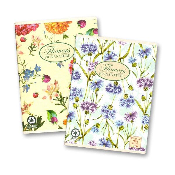 Kancelářský sešit Pigna Nature Flowers A5, 40 listů, linkovaný