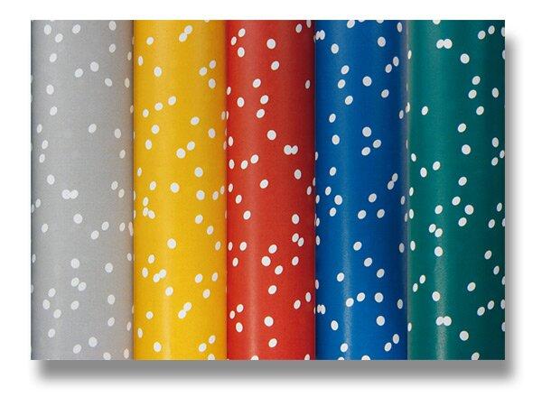 Dárkový balicí papír Clarefontaine Alliance Irregular dots 2 x 0,7 m, mix barev