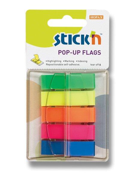 Samolepicí proužky Stick´n Pop-Up Flags 45 x 12 mm, 200 listů