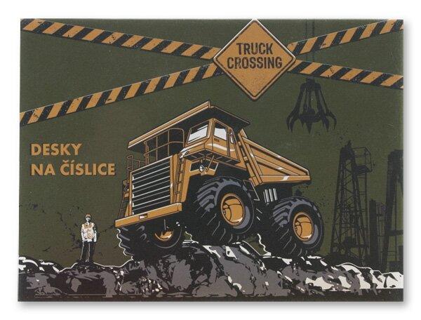 Desky na číslice Truck Crossing