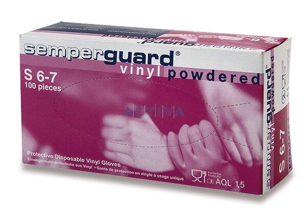 Jednorázové vinylové rukavice nepudrované velikost M