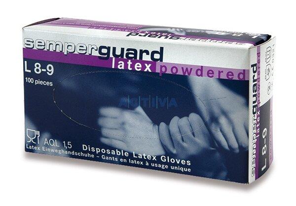 Jednorázové latexové rukavice pudrované velikost M