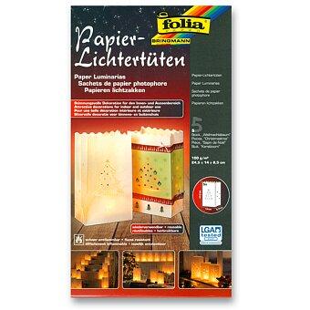 Obrázek produktu Papírové sáčky Folia ke svícení - Vánoční stromeček