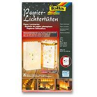 Papírové sáčky Folia ke svícení - Hvězdy