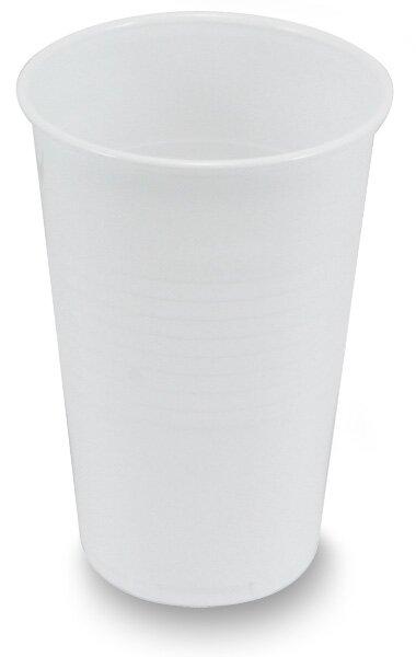 Plastové bílé kelímky objem 0,2 l, 100 ks