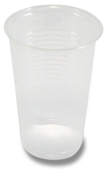 Průhledné plastové kelímky objem 0,2 l, 100 ks