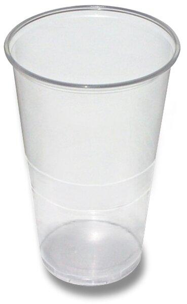 Průhledné plastové kelímky objem 0,5 l, 50 ks