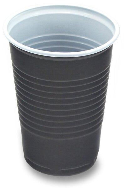Plastové kelímky objem 0,18 l , hnědobílé, 100 ks