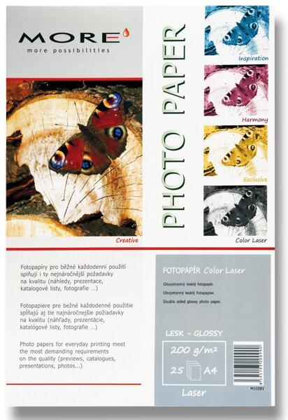 Lesklý fotopapír More Color Laser A4, 25 listů, lesklý