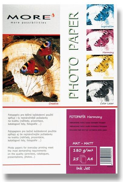 Matný fotopapír More Harmony Matt A4 A4, 180 g, 25 listů