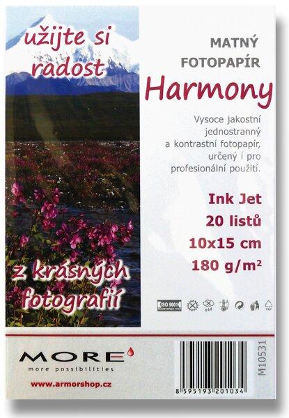 Matný fotopapír More Harmony Matt 10 x 15 cm, 20 listů, matný