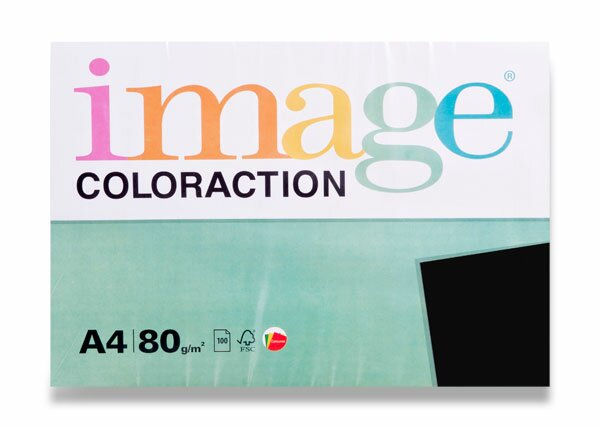 Barevný papír Image Coloraction černý
