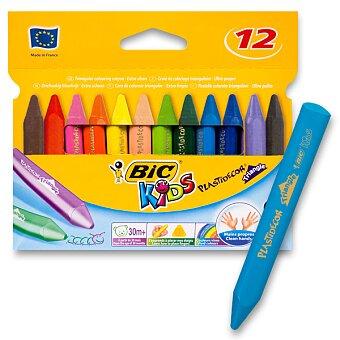 Obrázek produktu Voskové pastely Bic Kids Plastidecor Triangle - 12 barev
