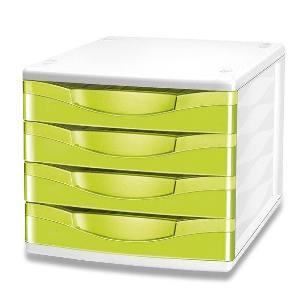 Zásuvkový box Cep Pro Gloss zelený