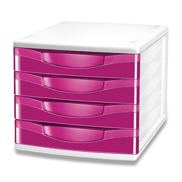 Zásuvkový box Cep Pro Gloss růžový