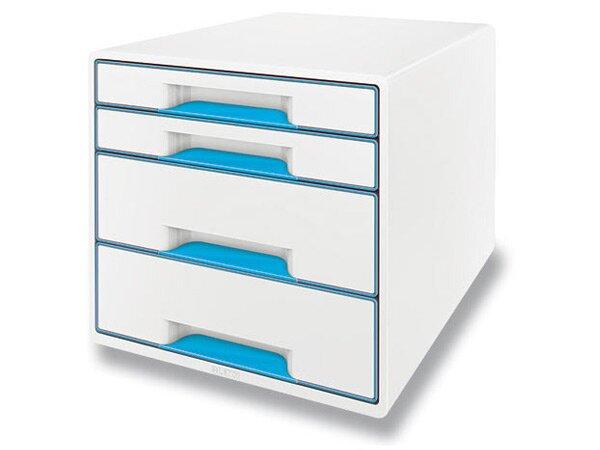 Zásuvkový box Leitz Wow modrý