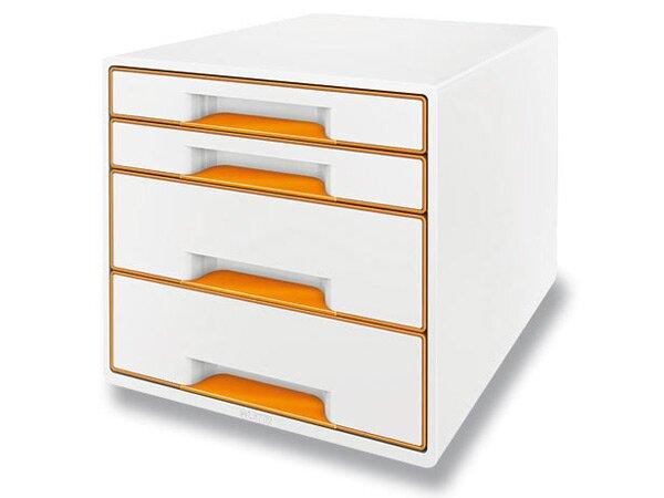 Zásuvkový box Leitz Wow oranžový