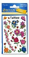 Tetování Avery - Třpytivé květy