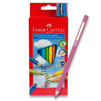 Obrázek produktu Pastelky Faber-Castell Junior Triangular - 10 barev + ořezávátko