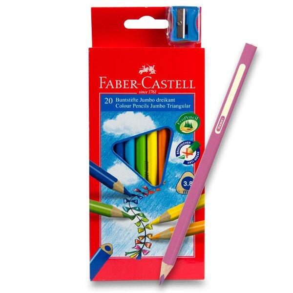 Pastelky Faber-Castell Junior Triangular 20 barev + ořezávátko