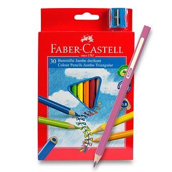 Obrázek produktu Pastelky Faber-Castell Junior Triangular - 30 barev + ořezávátko