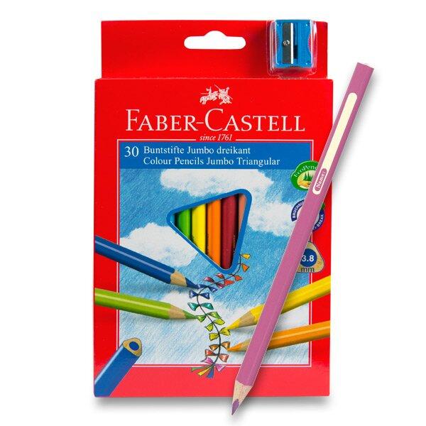Pastelky Faber-Castell Junior Triangular 30 barev + ořezávátko
