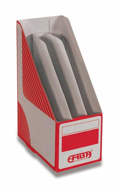 Otevřený archivační box Emba dělený 330 x 230 x 130 mm, červený