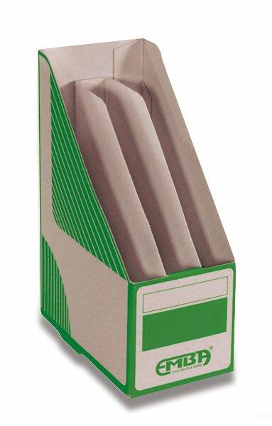 Otevřený archivační box Emba dělený 330 x 230 x 130 mm, zelený