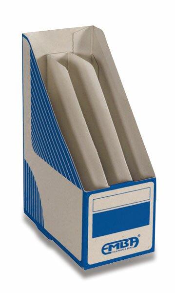 Otevřený archivační box Emba dělený 330 x 230 x 130 mm, modrý
