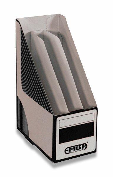 Otevřený archivační box Emba dělený 330 x 230 x 130 mm, černý