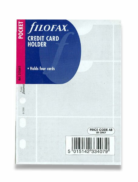 Pouzdro na vizitky náplň ke kapesní diářům Filofax