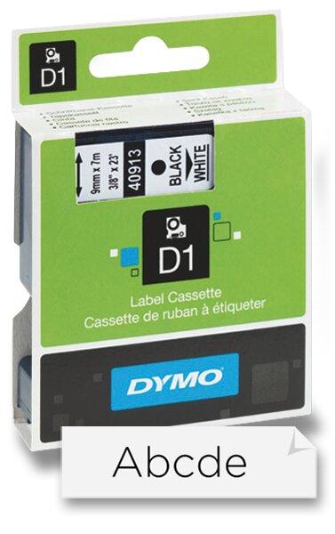Polyesterová páska Dymo D1 9 mm x 7 m, černý tisk / bílá páska
