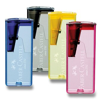 Obrázek produktu Ořezávátko  Faber-Castell Flue - s odpadní nádobou - 1 otvor, mix barev