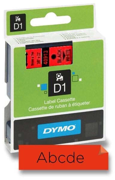 Polyesterová páska Dymo 9 mm x 7 m, černý tisk / červená páska