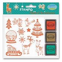Razítka Aladine Stampo Christmas - Vánoční zvířátka