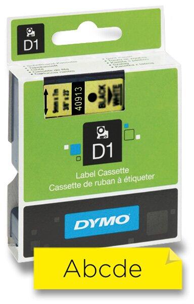 Polyesterová páska Dymo D1 9 mm x 7 m, černý tisk / žlutá páska