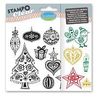 Razítka gelová Stampo Clear - Doodlingové Vánoce