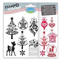 Razítka gelová Stampo Clear - Bohémské Vánoce